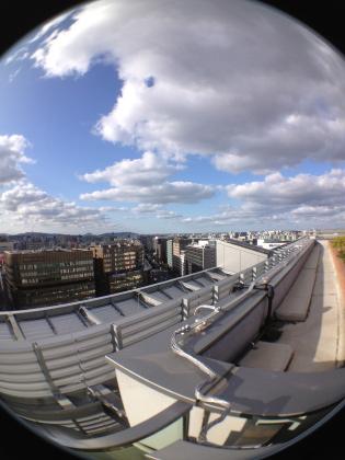 魚眼レンズ:博多駅ビル屋上