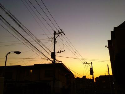 2012年1月21日の夕暮れ