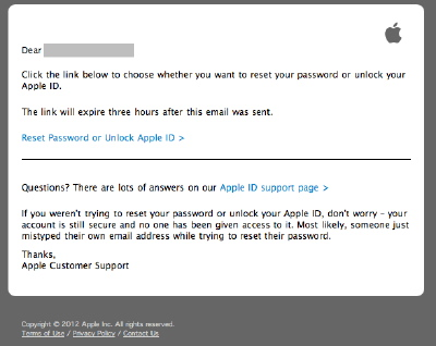 apple ID mail